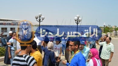 Photo of بالصور.. وصلة رقص لشباب الدول العربية وحوض النيل على أنغام المزمار في عاصمة السياحة العالمية