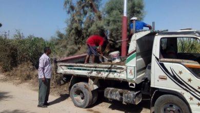 Photo of تركيب 15عمود بالطريق الرابط بين الزينية بحرى وطريق السكة الحديد شمال الأقصر