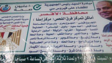 Photo of بالصور.. مؤسسات المجتمع المدني بالأقصر تشارك في حملة 100 صحة بتوعية المواطنين