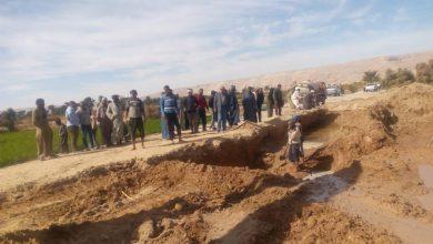 Photo of كسر مفاجئ للماسورة الرئيسية للصرف الصحي بحاجر الرياينة بأرمنت