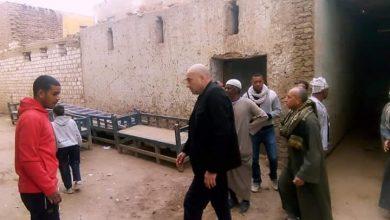 """Photo of """"العياد"""" يتفقد المنزل المنهار بقرية العديسات بالطود جنوب الأقصر """"صور"""""""